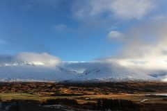 两个山峰在苏格兰高地 免版税图库摄影