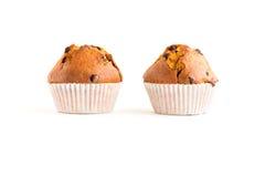 两个巧克力片松饼 免版税库存照片