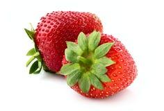两个开胃草莓 库存照片