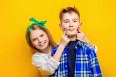 两个情感孩子 免版税库存照片