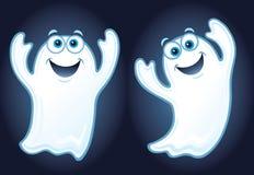 两个愉快的微笑的鬼魂 库存图片