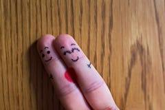 两个手指拥抱 库存照片