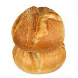 两个有壳的小圆面包 免版税库存照片