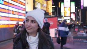 两个朋友前往观光的纽约 免版税图库摄影