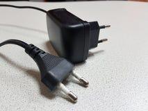 两个标准听筒插头 库存照片