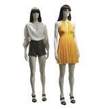 两个母时装模特 免版税库存照片