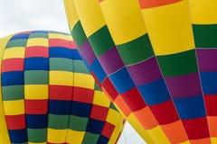 两个热空气气球的部分 图库摄影