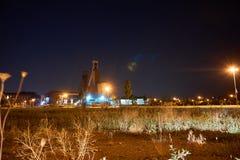 两个煤矿业的塔在欧洲 库存照片