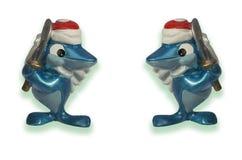 两个玩具鲨鱼 免版税库存照片