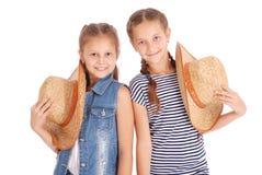 两个相当12岁的女孩 库存照片