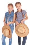 两个相当12岁的女孩 免版税库存图片