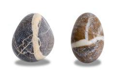 两个石小卵石 免版税库存照片