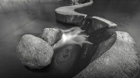 两个石水坝 免版税库存图片