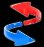 两个箭头的图象 免版税库存图片
