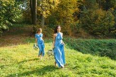 两个美丽的女傧相 免版税库存图片