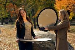 两个美丽的女孩 免版税图库摄影