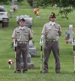 两个美国退伍军人在阵亡将士纪念日 图库摄影