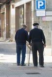 两个老人 免版税库存图片