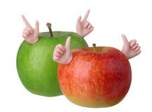 两个苹果字符 库存图片