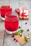 两个莓果饮料用香料为冷的冬天 图库摄影