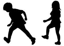 两个连续孩子 免版税图库摄影