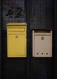 两个邮件箱子 库存图片