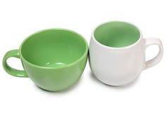 两个陶瓷罐 库存照片