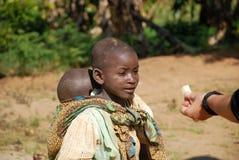 两个非洲孩子 免版税库存照片