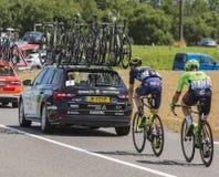 两个骑自行车者-环法自行车赛2017年 库存图片