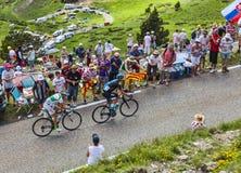两个骑自行车者 免版税库存图片