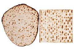 两个Matzah类型 库存照片