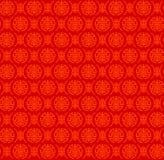 两中国标志& x22变形的无缝的红色样式; Shou& x22; 库存图片