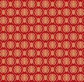 两中国标志& x22变形的无缝的金黄样式; Shou& x22; 免版税图库摄影