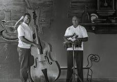 两位专业古巴音乐家 库存照片
