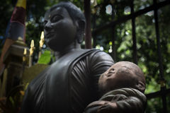 两位佛教徒新手 库存图片