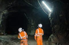 两位矿工 免版税库存照片