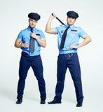 两位警察,脱衣舞 免版税库存图片