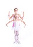 两位逗人喜爱的芭蕾舞女演员 免版税库存图片