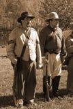 两再enactors的南北战争 免版税库存照片
