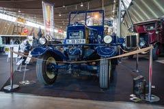 两冲程拖拉机Lanz的牛头犬D2531,热的电灯泡引擎,制造由海因里奇AG Lanz在曼海姆, 1939年 图库摄影