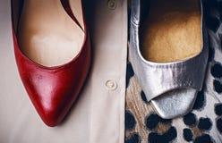 两双不同女性鞋子 库存图片