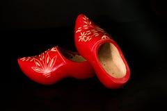 两双木荷兰鞋子 免版税库存照片