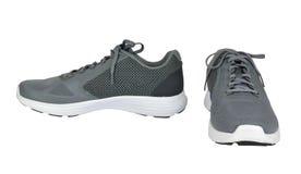 两双灰色体育鞋子 库存图片