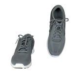 两双灰色运动鞋 免版税库存照片