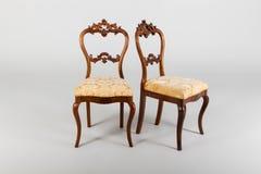 两古色古香的扶手椅子 库存照片