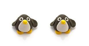 两只企鹅玩偶 免版税库存照片