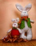 两只复活节兔子 免版税库存照片