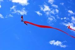 两只红色风筝 免版税库存图片
