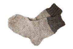 两只羊毛袜子 库存照片