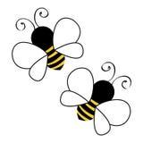 两只蜂飞行 免版税图库摄影